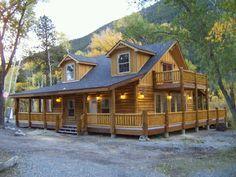 Modular log home in 120 days