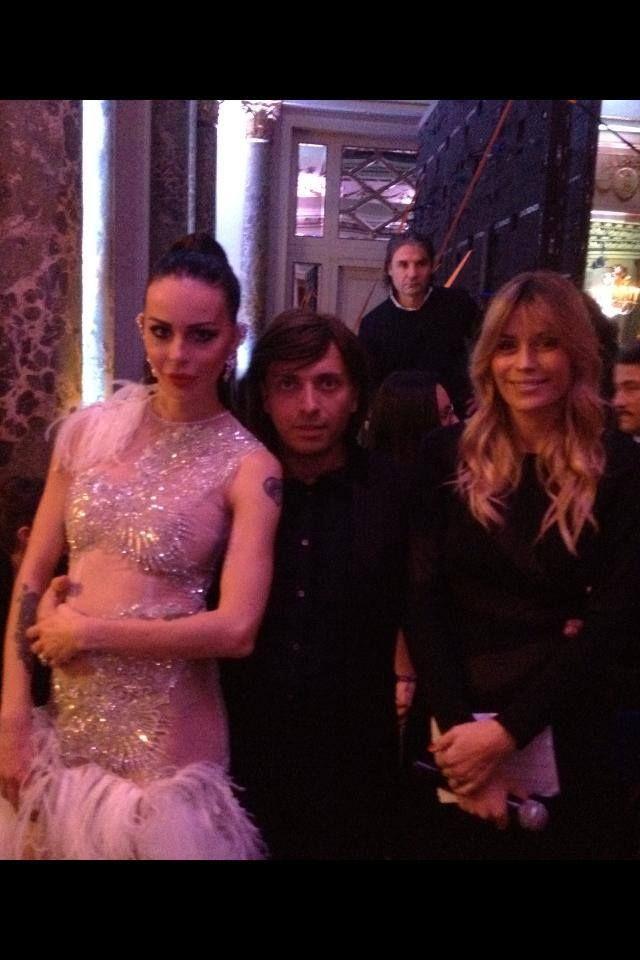 THE LOOK OF THE YEAR -  Model Nina Moric  -  Lead Elenoire Casalegno - Couture Anton Giulio Grande -  @WestinRome