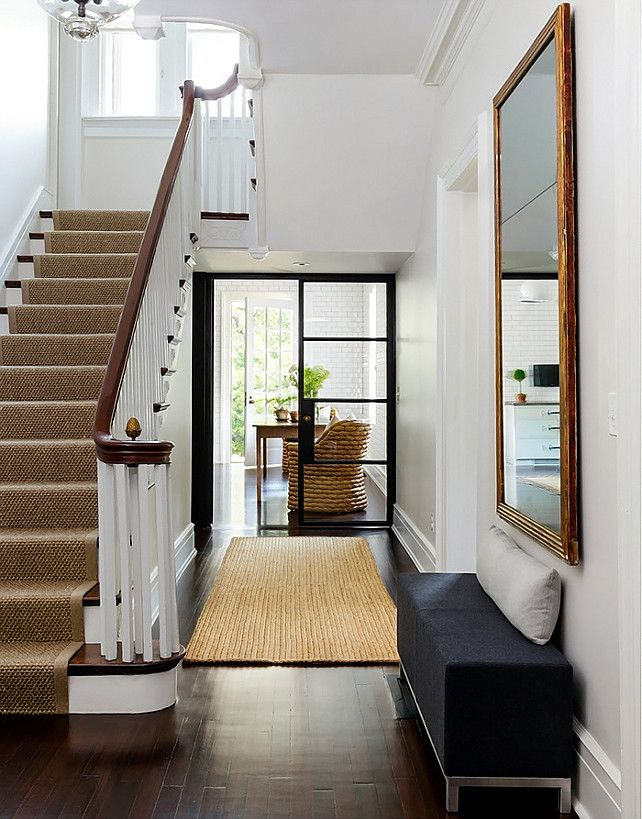 front entrance & hallway, beautiful black & white blend