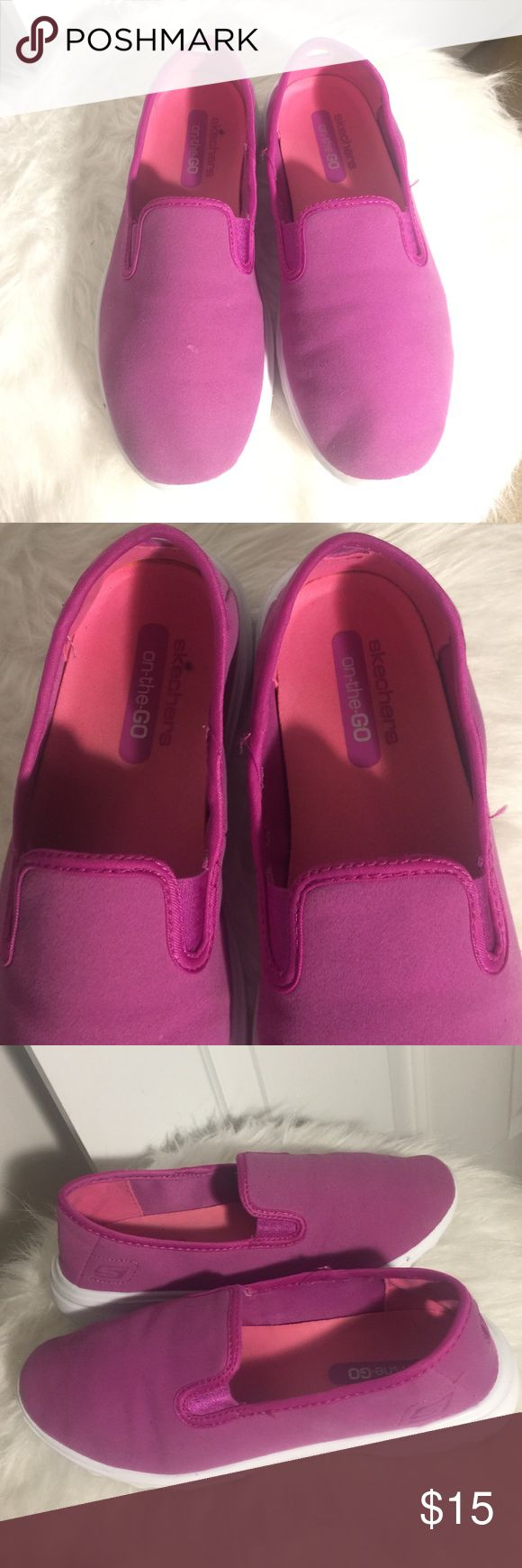 LILAC SKECHERS On-the-GO SIZE US6 GREAT CONDITION PRE-LOVED SKECHERS ON THE GO IN EXCELLENT CONDITION, VERY CLEAN, NO SMELLS, VERY LIGHTLY USED AS YOU CAN SEE THE SOULS ARE LIKE BRAND NEW. 🤑OPEN TO ALL OFFERS🤑 Skechers Shoes Sneakers
