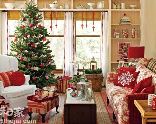 Christmas living room decor 2016