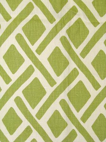 green and white fabric