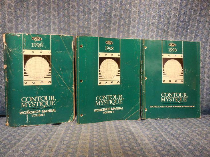1998 Ford Contour Mercury Mystique OEM Original Workshop Manual 3 Volume Set #Ford