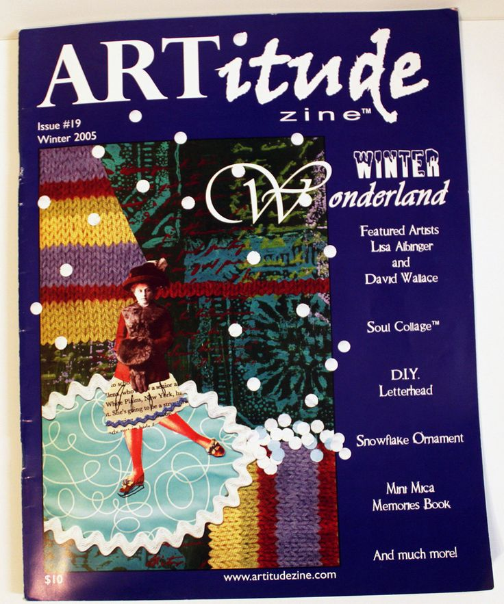 """ARTitude Zine Issue #19 Winter 2005, """"Winter Wonderland"""", Altered Arts Articles, Indie Arts Instructions,  Soul Collage,  Collage art, Mixed by KTArtStudio on Etsy"""