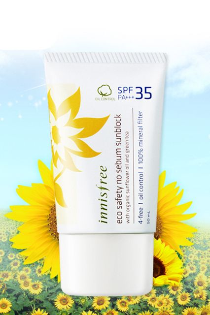 Why The Best SPFs Come From Asia #refinery29  http://www.refinery29.com/asian-sunscreen#slide1  Innisfree is known for using natural Korean ingredients. Cullen-esque.Innisfree Eco Safety No Sebum Sunblock SPF35 PA+++, $15, available at Shop at Korea.