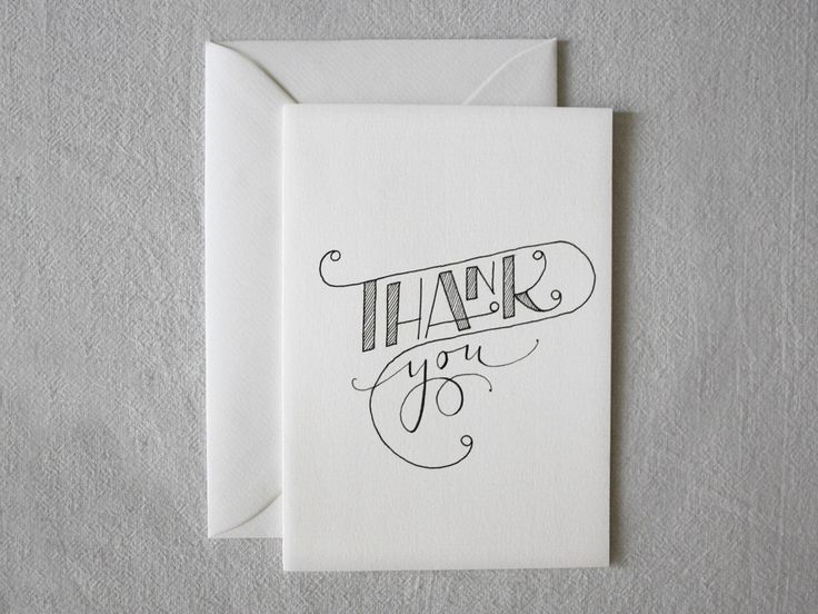 Card Thank You Hand Drawn Customized card by hand by ENJOYyourway