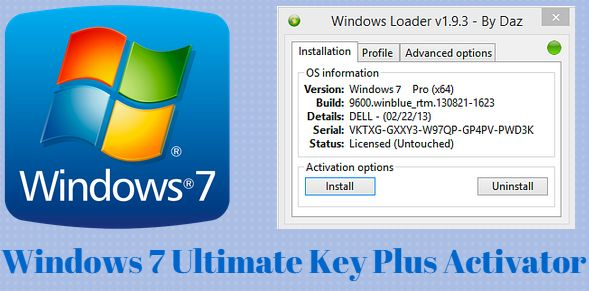 Windows 7 ultimate key plus activator free download for Window 7 ultimate product key