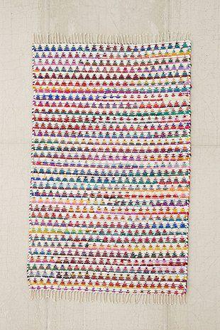 Tapis 2x3 à motif triangles multicolore