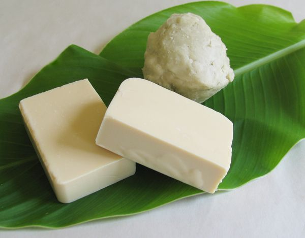 Shea Butter Soap: 255 g Shea butter, 300 g coconut oil, 230 ml distilled water, 300 ml extra-virgin olive oil, 120, ml sodium hydroxide, 10 ml orange essential oil, 2 tablespoons grated orange zest