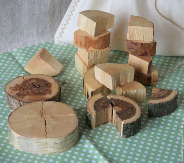 """Купить игра развивающая """"четвертинки"""" - срезы натурального дерева - натуральное дерево, срезы дерева"""