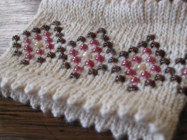 Knitting With Beads Instructions : Best images about beaded knitting on pinterest free