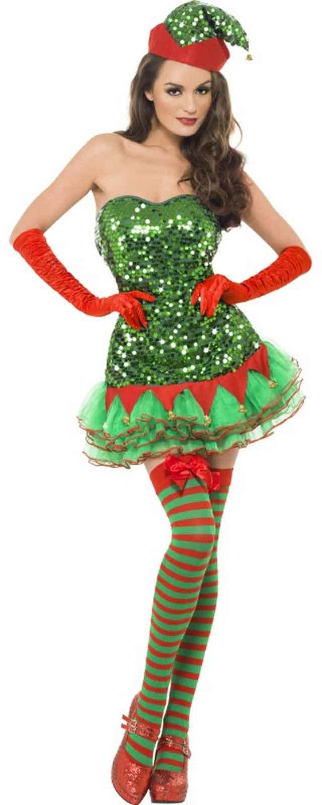Santa Costumes, Elf Costumes, Christmas Costumes, Nativity Costumes Take this year's Halloween costume party honors by dressing the whole family in Christmas costumes. This sweet holiday idea is perfect for families with young children that might be frightened by scary Halloween costumes.