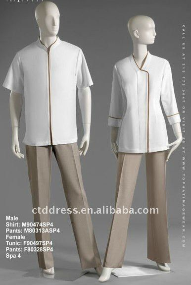 New style wool spa uniform spa dress by ctd 76 95 for Spa uniform female