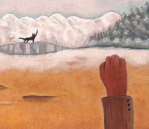 Fantastic Mr Fox and the Wolf 5x7 Print  by TheBlackSheepStudio, $10.00