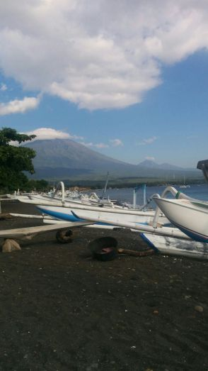 Mount Agung view from Amed, Bali