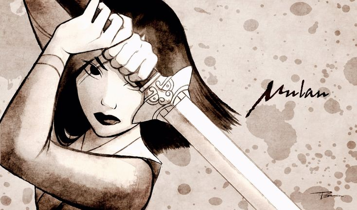 Mulan. Also a good drawing reference for someone holding a sword
