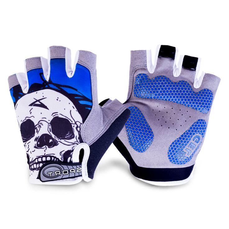 #AliExpress Men′s Skeleton Silicone Gel Paded Bicycle Half Finger Gloves Road Bike MTB Gloves Mountain bike Short Finger Gloves WDYD11 (32745875489) #SuperDeals