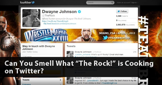 "Can You Smell What ""The Rock!"" is Cooking on Twitter?"