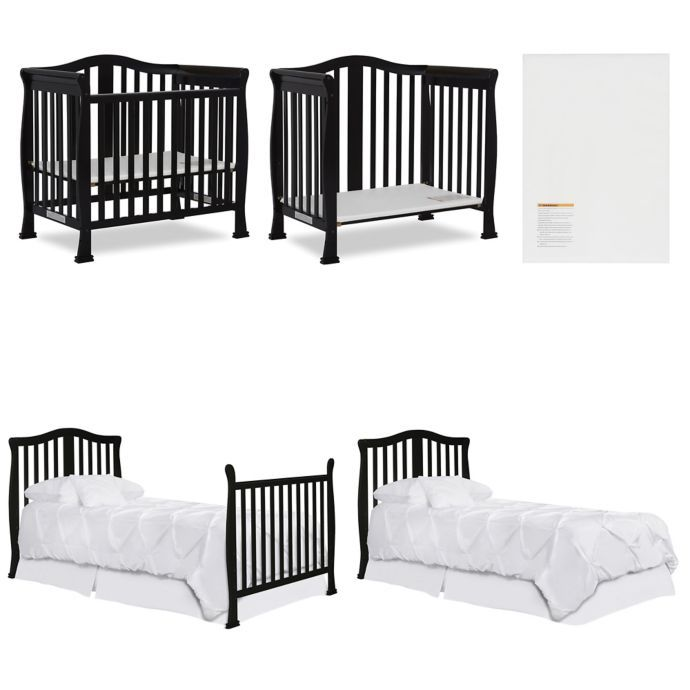 Dream On Me Naples 4 In 1 Convertible Mini Crib Cribs Mini Crib Nursery Mini Crib