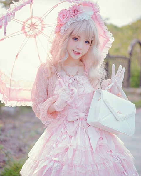 dressy time~brand:#angelicpretty wig:#dreamholic #sweetlolita #lolita_fashion…