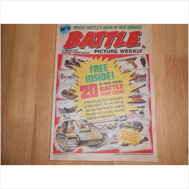 Battle Picture Weekly Comics #3 22nd March 1975 Listing in the Battle,UK Comics,Comics,Books, Comics  & Magazines Category on eBid United Kingdom