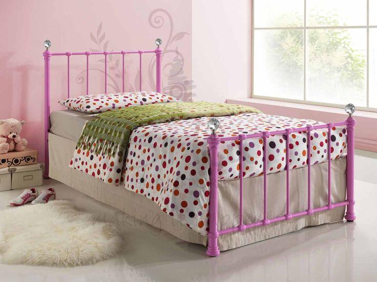 Jessica Metal Bedstead (Pink)
