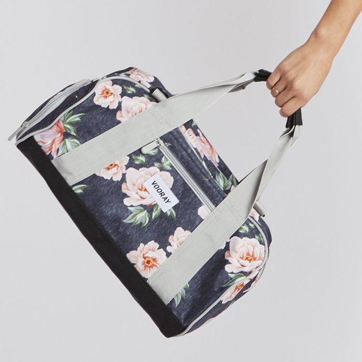 This cute floral-printed gym bag is also super-practical: Reinforced for supreme durability and protection, it's got an extended dual-zipper track, so you can o