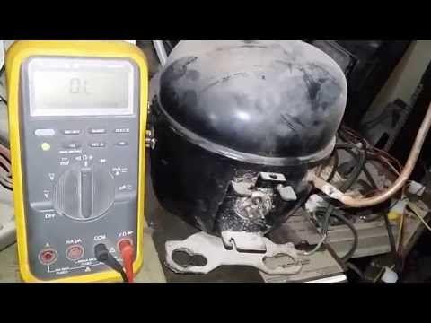 como probara motor-compresor de refrigeración domestica - YouTube