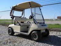 Looking for an inexpensive gas golf cart? We just received two of these 2003 Club Car DS gas units that are already equipped with windshields.  These carts are serviced, fully checked out, and ready to go today!  Or even better, let us customize a cart to suit your own unique personal tastes and needs.