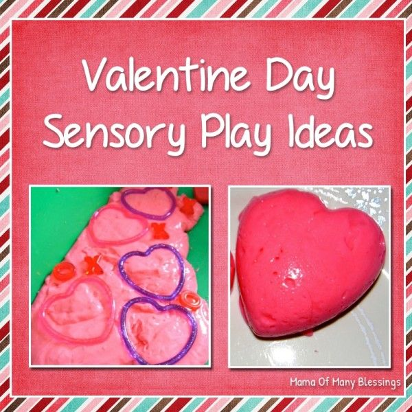 Red flubber Valentine Day Sensory Play idea. Easy to make and kids love it.