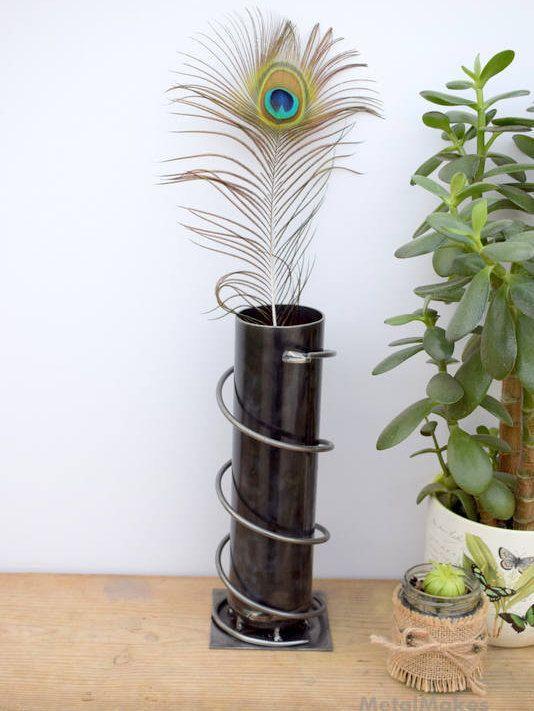 https://www.etsy.com/uk/shop/MetalMakes £34.00 Excited to share the latest addition to my #etsy shop: Industrial Shelf Decor, Up-cycled, Metal Vase, Valentine For Him, Snake lover, Wedding Gift, Metal art, Steel Vase, Alternative Home Decor, http://etsy.me/2ErjMyk