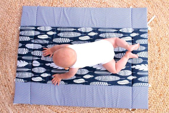 Baby Playmat Play Mat Baby Play Mat Travel Play Mat by audreynme