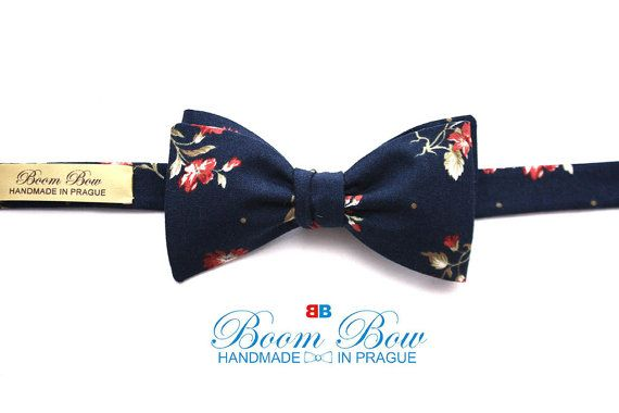 Mens Bow tie Floral 100% Cotton men's self tied Bow Tie Untied Bowtie Boom Bow Handmade Free Shipping