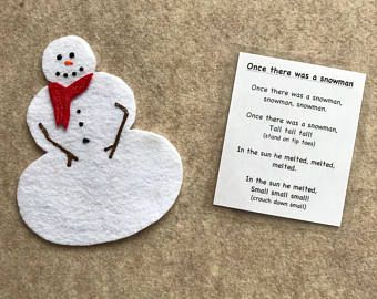 This felt story is fun for the children to take part in. Reversible snowman has a built snowman on one side and a melted snowman on the other.  Comes with a laminated verse in a resealable bag.