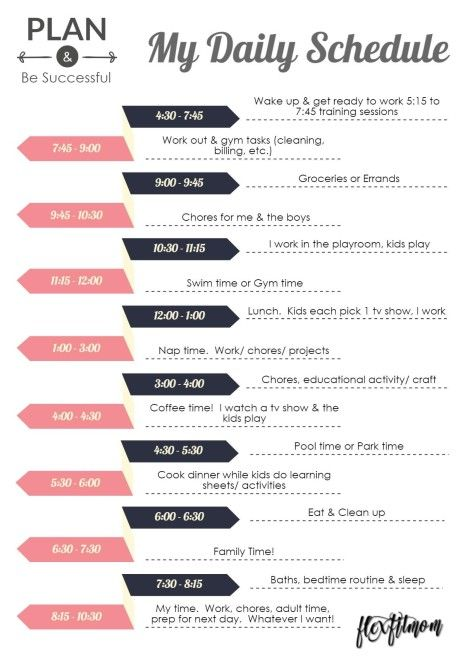 Fit Mom Daily Summer Schedule- Find time to fit in that workout!