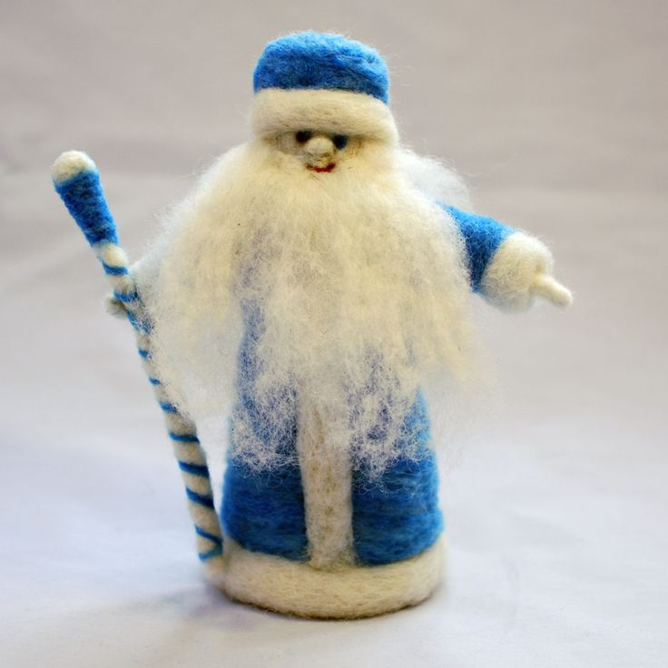 Needle felted king winter   Childhood In Me