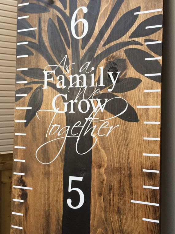 As A Family We Grow Together wooden growth chart add on. Please specify dimensions required in order notes.