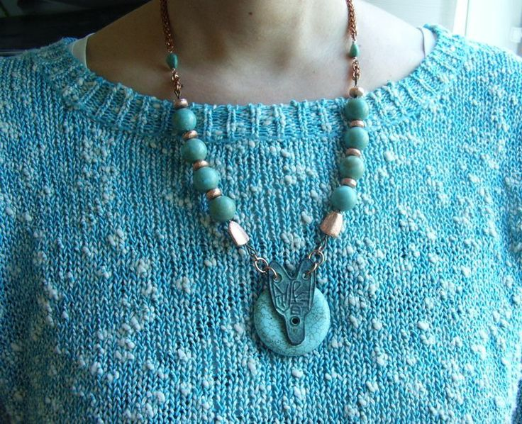F.o.x.: magnesite + copper beads, Jens Pind chainmaille of copper