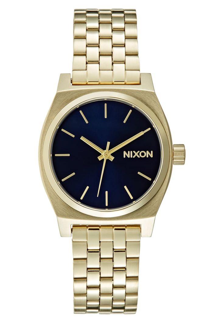 Nixon MEDIUM TIME TELLER Uhr light goldcoloured/cobalt Accessoires bei Zalando.de | Accessoires jetzt versandkostenfrei bei Zalando.de bestellen!