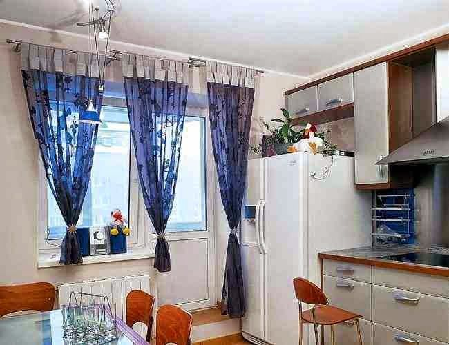 modern kitchen curtains blue fabric curtain ideas modern kitchens ...