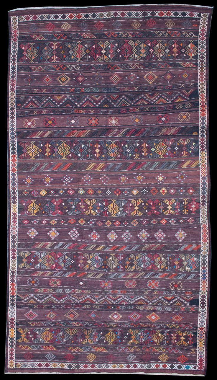 Anatolian Konya Jijim Kilim  340 x 200 cm