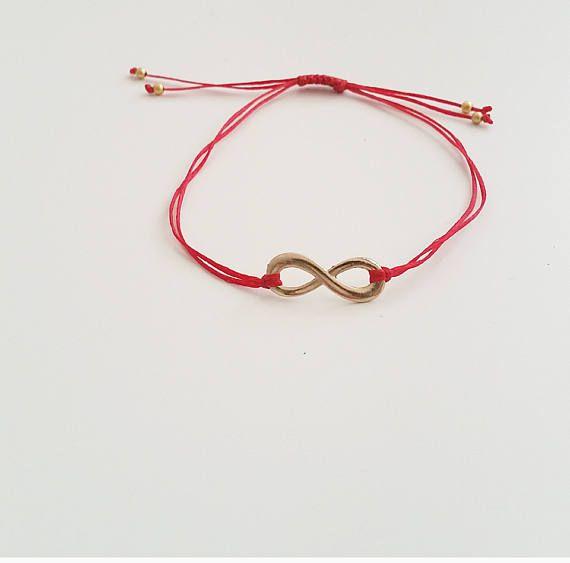 Red Bracelet İnfinity Bracelet Tiny Bracelet Charm