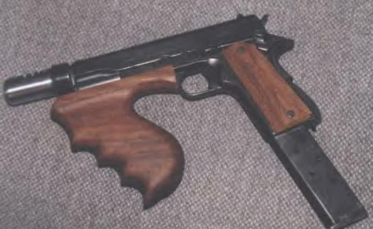Dillinger S Custum M1911 38 S Amp W Machinepistol W Extended Mag Cuts