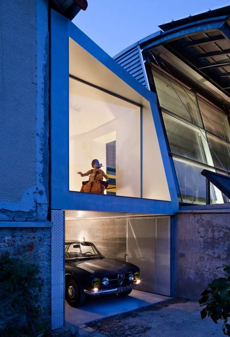 Extension to a house in Chaville by Cut Architectures.