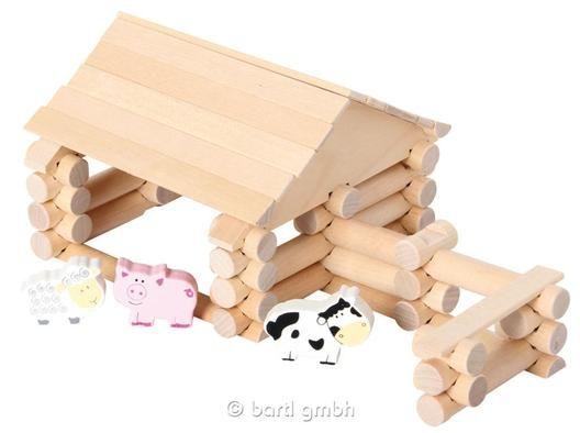 Bartl, Construction Set 56 Teile, Bauernhof zum selber basteln für Kinder | 111296