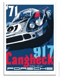 Official Porsche poster 917 Langheck Porsche 917LH