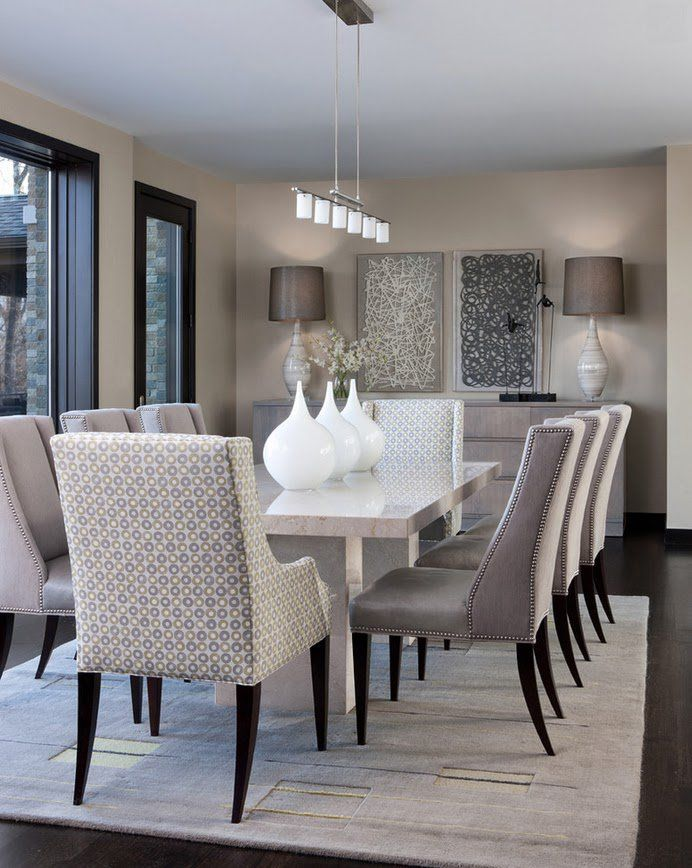 Glamorous Grey Dining Room Designs - Top Dreamer