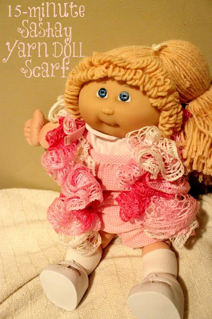 Crochet a Doll Scarf in Less than 15-Minutes (No Experience Necessary!) ~ Lille Punkin'
