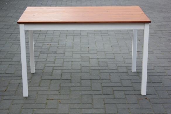 houten tafel poten wit verven