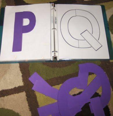 Puzzle des lettres avec lettres à reconstituer